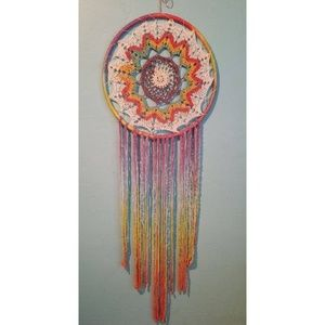 OOAK Dream Catcher Boho Hippie Decor Handcraft